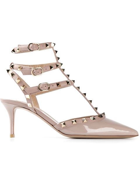 Valentino 'Rockstud' Pointy Toe Pump (Women) In Poudre Patent