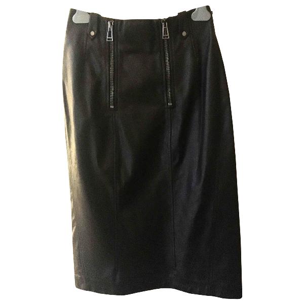 Belstaff Black Leather Skirt