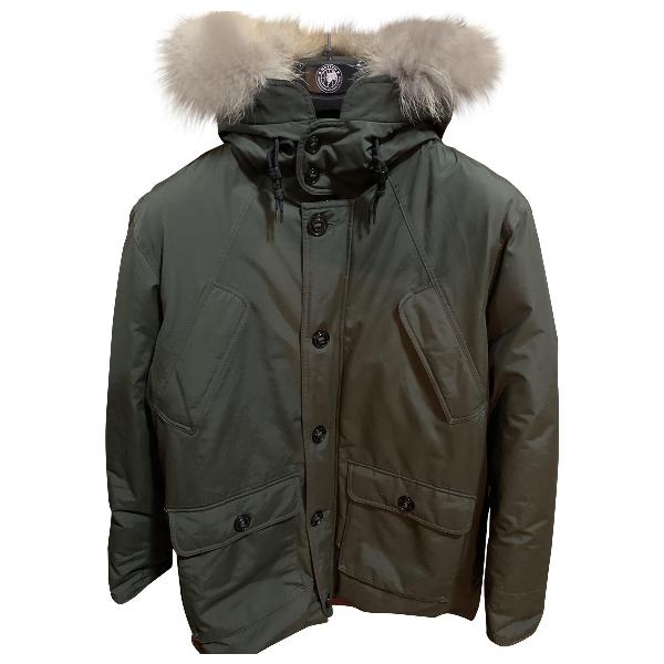 Museum Green Cotton Coat