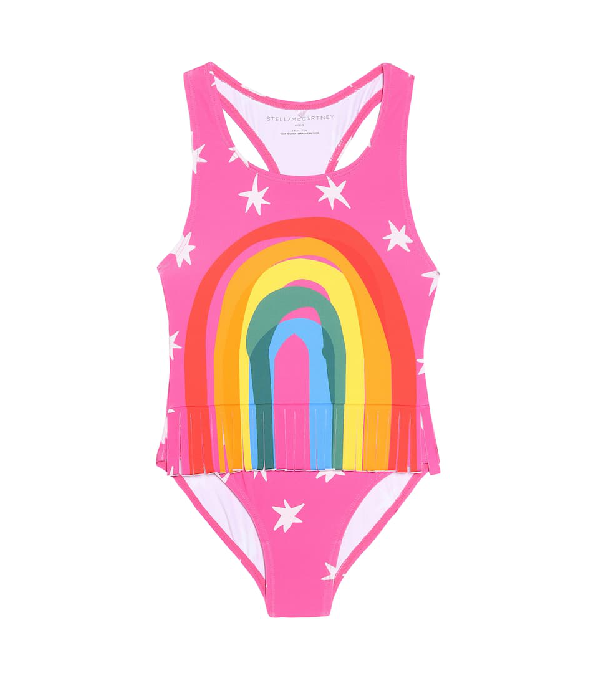 Stella Mccartney Kids' Recycled Nylon One Piece Swimsuit In Pink