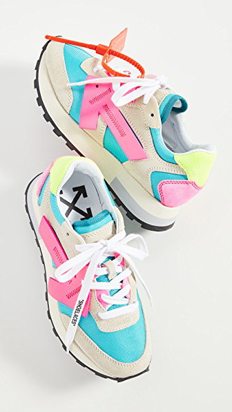 Off-white Hg Runner Leather And Suede Low-top Sneaker In Multi