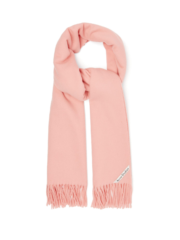 Acne Studios Oversized Wool Scarf In Pink