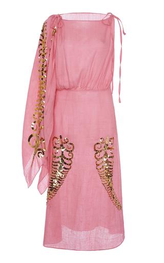 Prada Sequin-embellished Silk-georgette Midi Dress In Pink