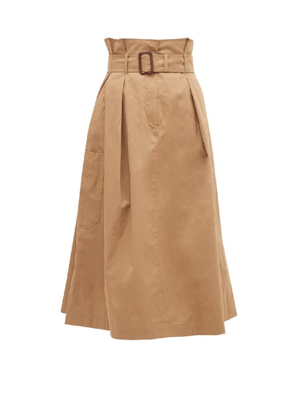 Weekend Max Mara Brusson Cargo Skirt In Brown