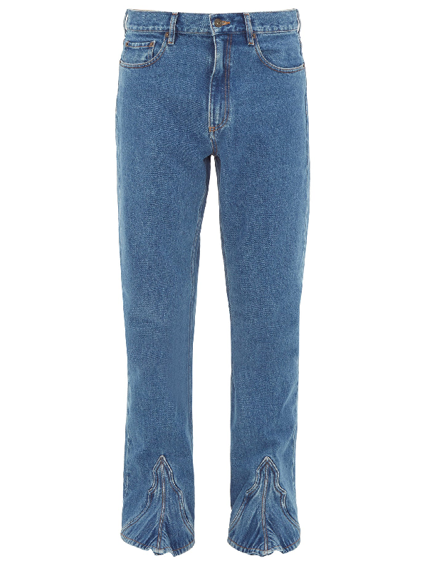 Y/project Cowboy Bootcut Jeans In Blue