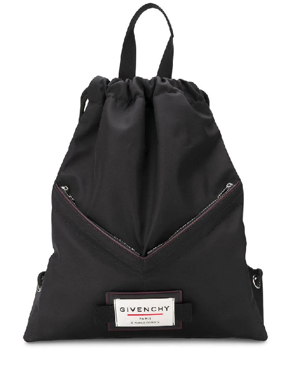 Givenchy Downtown Drawst Backpack In Black Nylon