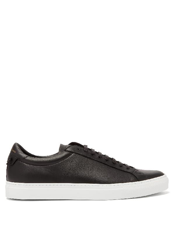 Givenchy Low-top Sneakers Urban Street Calfskin Logo Black In 001 Black