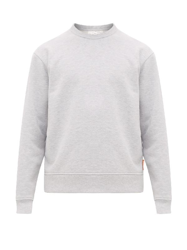 Acne Studios Mélange Fleece-back Cotton-blend Jersey Sweatshirt In Light Grey