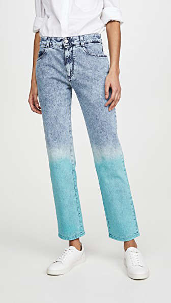 Stella Mccartney Mid Rise Boyfriend Retro Stone Jeans In 8497 Degrad