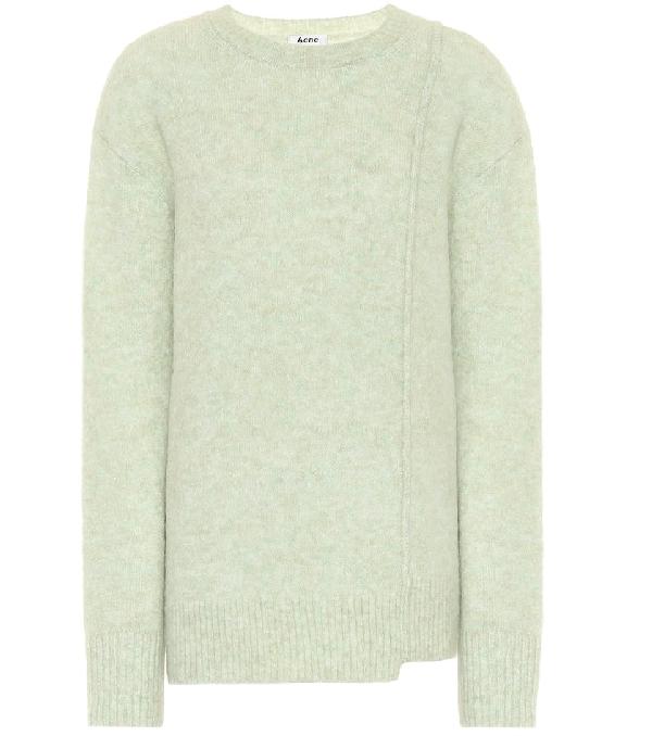 Acne Studios Asymmetric-hem Sweater Pistachio Green