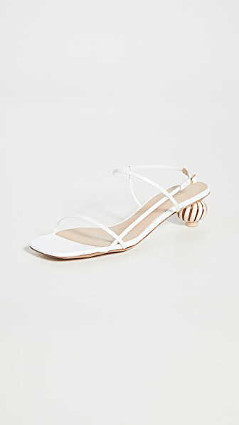 Jacquemus White 'les Sandales Manosque' Heeled Sandals