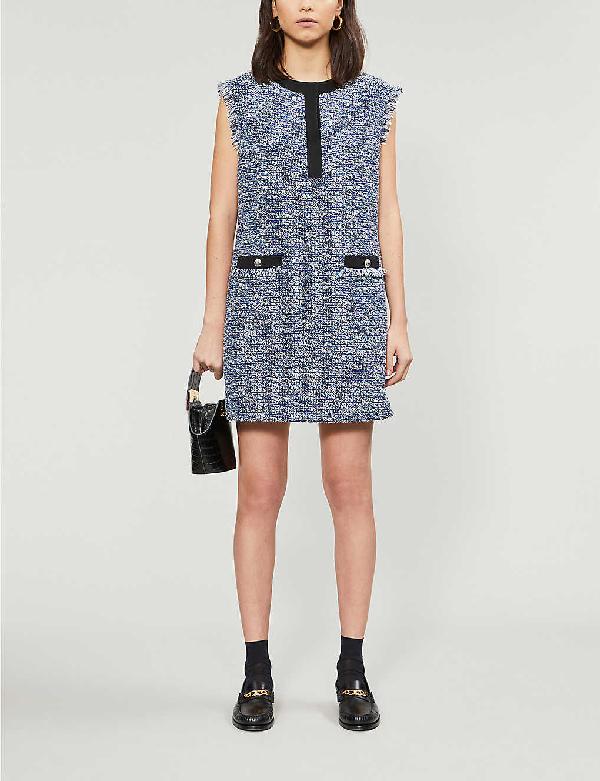 Claudie Pierlot Regione Woven Mini Dress In Multico