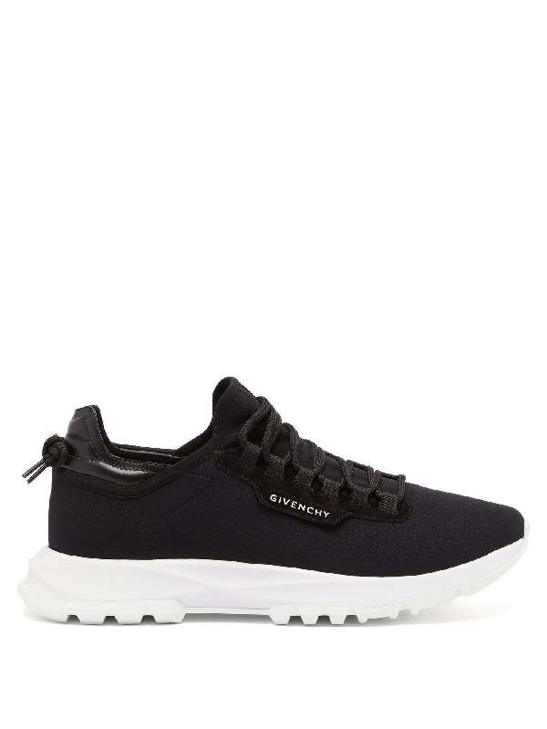 Givenchy Spectre Leather-trimmed Neoprene Sneakers In Black