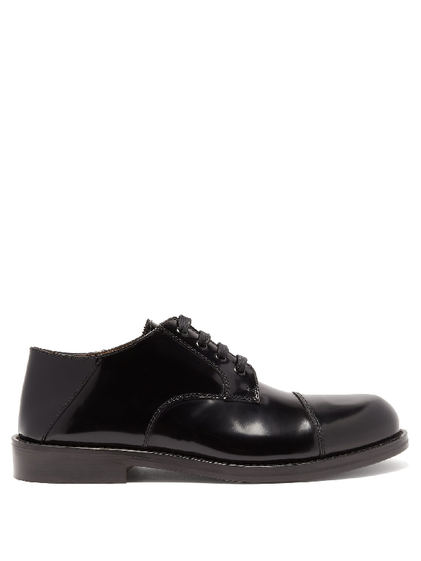 Marni Patent-leather Derby Shoes In Black
