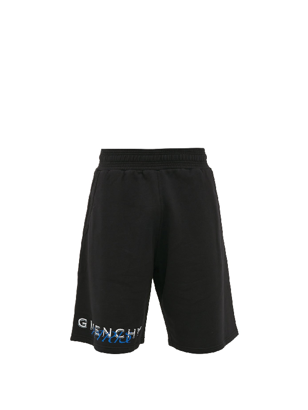 Givenchy Amore-print Cotton-jersey Track Shorts In 001-black