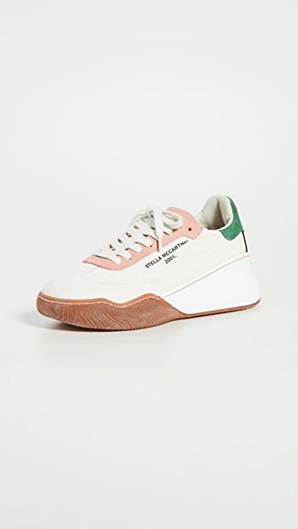Stella Mccartney 40mm Loop Nylon & Faux Leather Sneakers In K915 Wht/cr