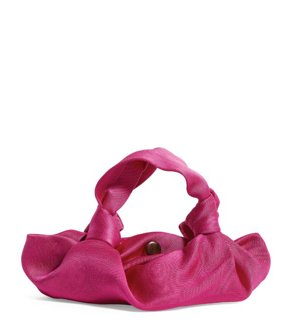 The Row Ascot Two Washed Satin Hobo Bag In Pink