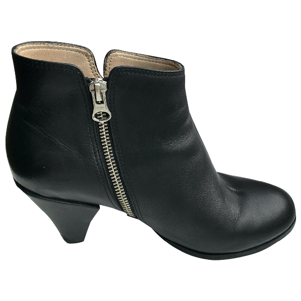 Hope Black Leather Ankle Boots