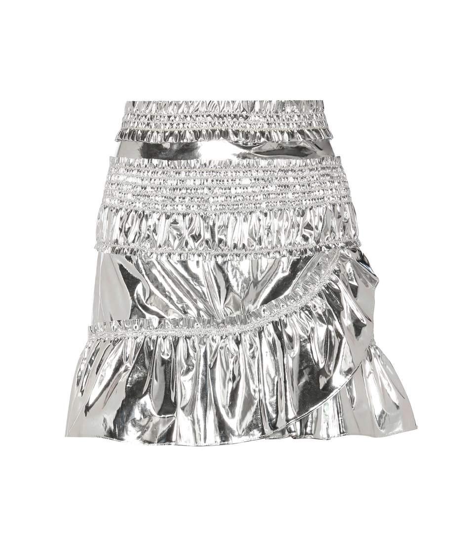 8e561461d2 Isabel Marant Jeanne Metallic Coated Cotton-Blend Mini Skirt | ModeSens
