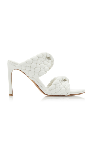 Bottega Veneta Women's Slip On Strappy Sandals In White