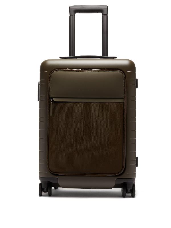 Horizn Studios M5 Essential Cabin Suitcase In Dark Green