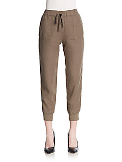 Joie Stuva Linen Jogger Pants In Dark Navy