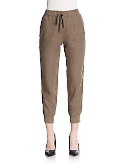 Joie Stuva Drawstring-waist Jogger Pants In Dark Navy