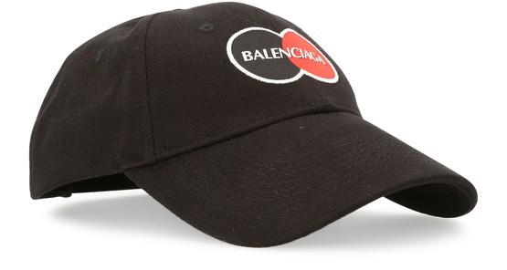 Balenciaga Logo-appliquÉ Cotton Baseball Cap In Black