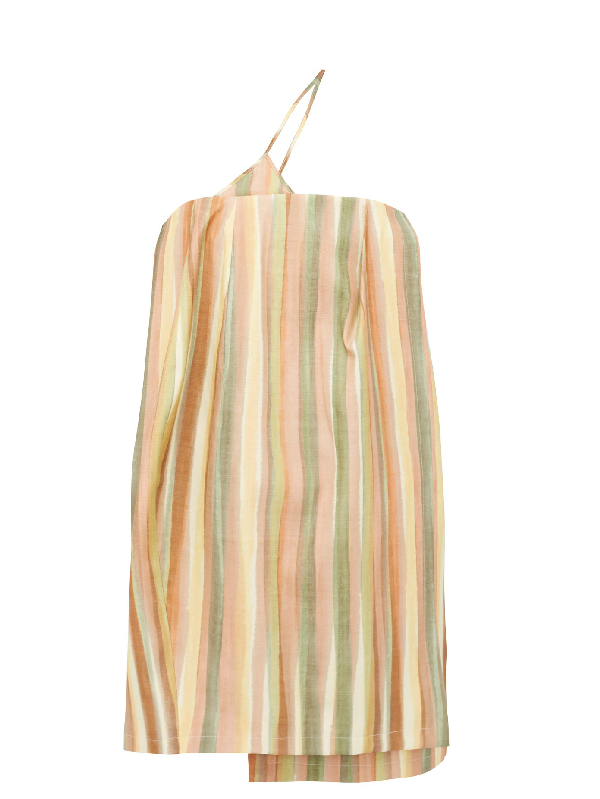 Jacquemus La Robe Soleil Striped Silk-blend Mini Dress In Print Strip