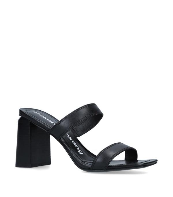 Alexander Wang Women's Hayden Croc-embossed Slide Sandals - 100% Exclusive In 001 Black