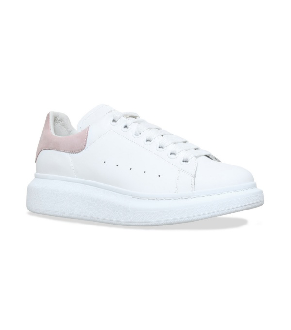 Alexander Mcqueen Ssense Exclusive White & Pink Oversized Sneakers In 9182 Wt/pat