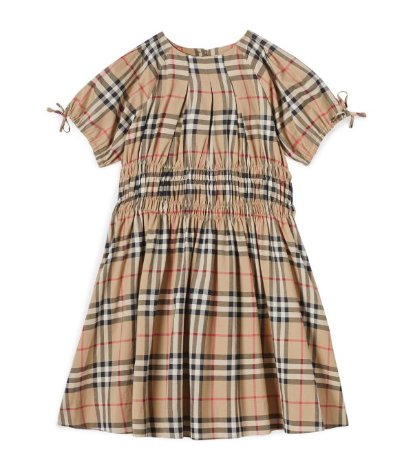 Burberry Girls' Joyce Smocked Vintage Check Dress - Little Kid, Big Kid In Beige