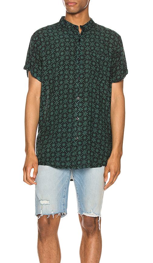 Rolla's Beach Boy Shirt In Sun Warrior Black & Green