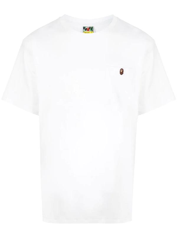 Bape One Point Pocket T-shirt In White