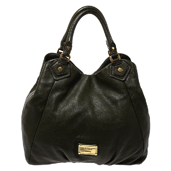 Marc By Marc Jacobs Green Leather Classic Q Francesca Shoulder Bag