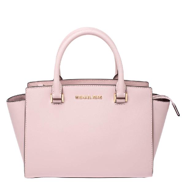 Michael Kors Michael  Blossom Pink Leather Medium Selma Satchel