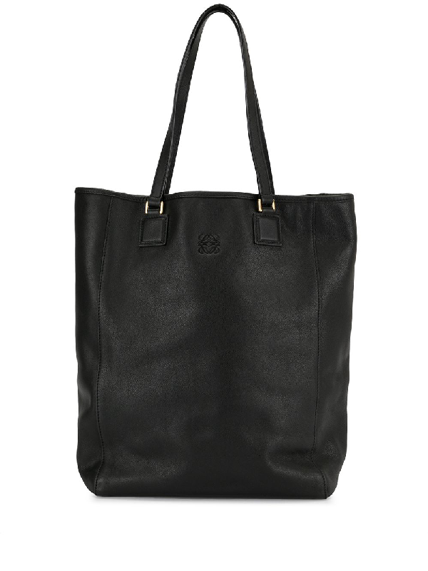 Loewe Anagram Tote Bag In Black