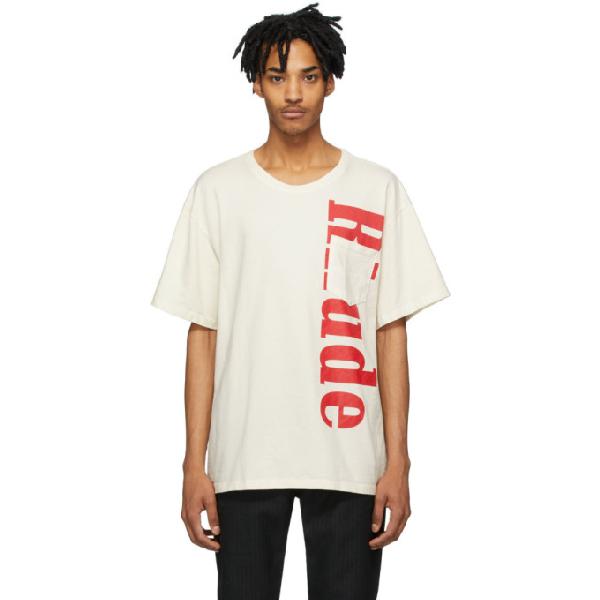 Rhude Pocket Detail Logo Cotton T-shirt In White