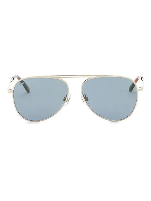 Web 58mm Aviator Sunglasses In Blue Tortoise