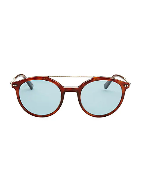 Web 50mm Aviator Sunglasses In Havana