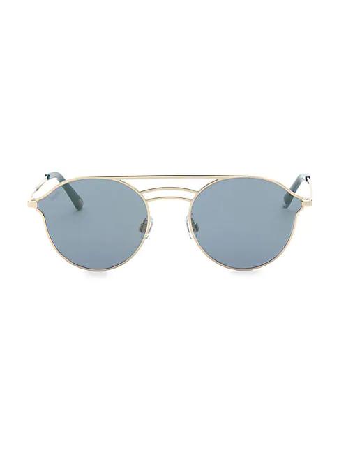 Web 55mm Aviator Sunglasses In Blue Tortoise