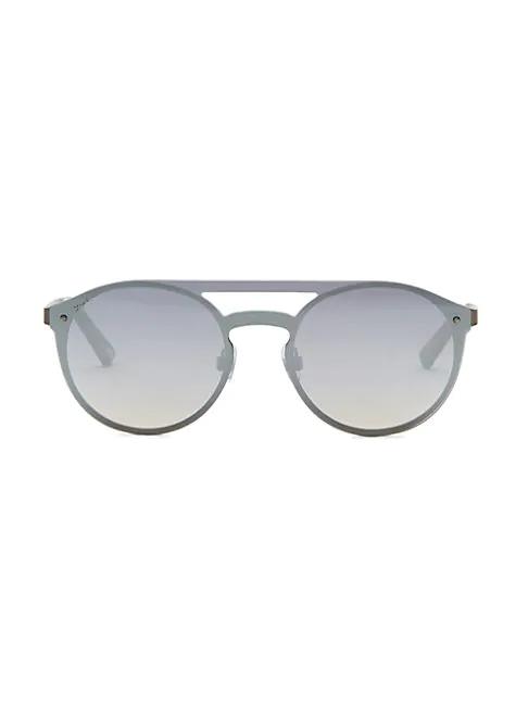 Web Round Shield Sunglasses In Smoke