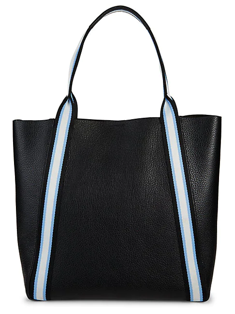 Botkier Trinity Leather Tote In Black