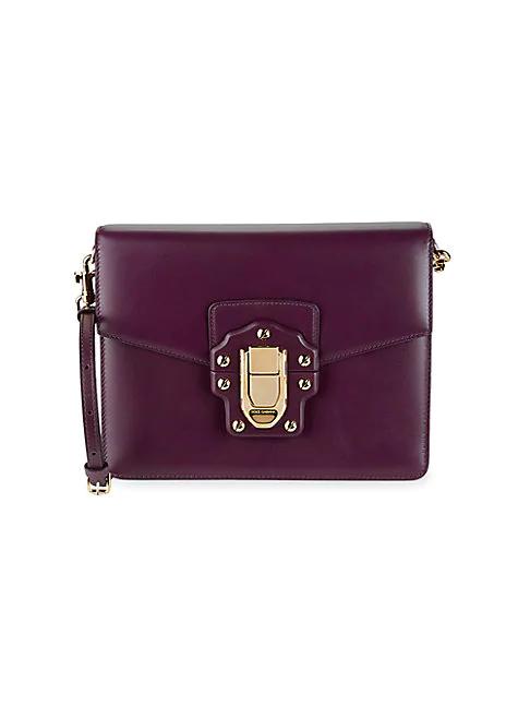 Dolce & Gabbana Studs & Buckle Leather Shoulder Bag In Burgundy