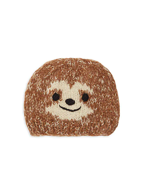 San Diego Hat Company Kid's Sloth Textured Beanie In Brown