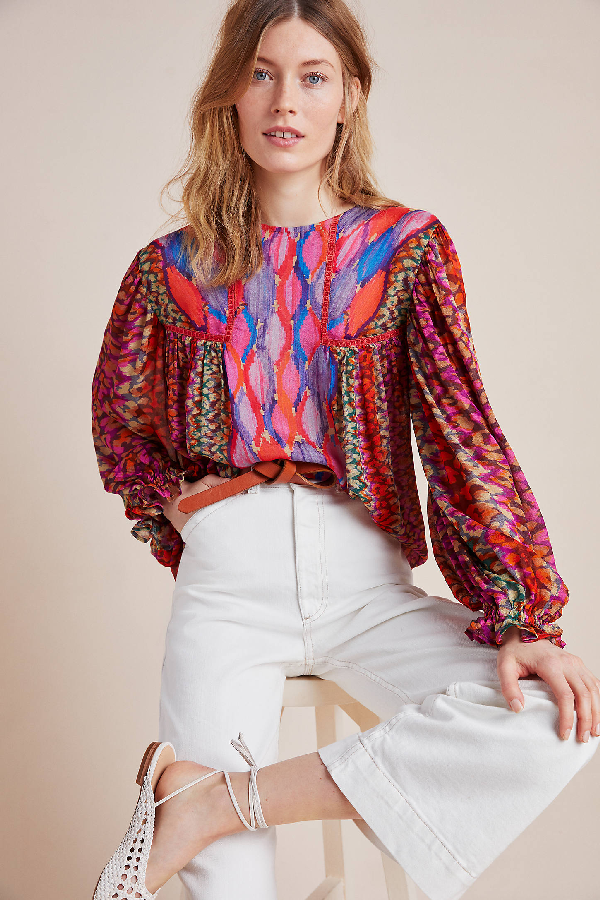 Bl-nk Miranda Peasant Blouse By  In Assorted Size M