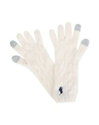 Polo Ralph Lauren Gloves In Ivory