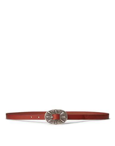 Polo Ralph Lauren Thin Belt In Brown