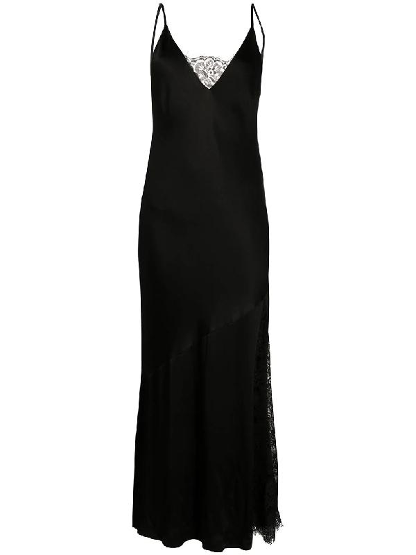 Gold Hawk Camisole Slip Dress In Black