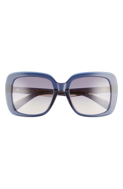 Rag & Bone 55mm Gradient Square Sunglasses In Blue Sand/ Grey Fuschia